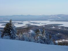 Gilford, NH : View from atop Gunstock Mountain Ski Area looking at Lake Winnipesaukee and the White Mountains