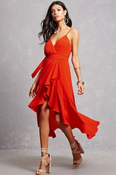 forever21 red flowy dress under $30