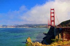 Golden Gate by Greg Norrell #impressionist art. Prints start at $31.