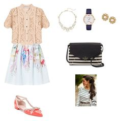 """""""Makingmywaydowntown2"""" by robotwin on Polyvore featuring Ted Baker, self-portrait and Kate Spade"""