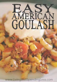 Easy American Goulash