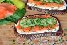 Open-Faced Smoked Salmon Sandwich with Cucumber, Dill and Crème Fraîche - Glow Kitchen