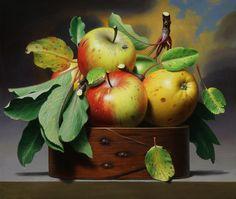 Apple Still life Art Painting Still Life Fruit, Fruit Painting, Apple Painting, Realistic Paintings, Painting Still Life, Fruit Art, Pictures To Paint, Fruits And Veggies, Painting Inspiration