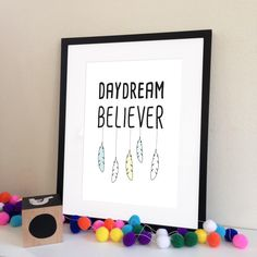 Daydream Believer Print in Yellow - My Sweet Prints