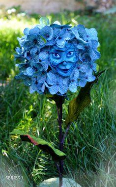 """Alice im Wunderland sprechen Blumen Serie 3 """"Lächelnde Hortensie"""" von Sutherland"""
