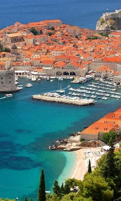 Coast in Dubrovnik, Croatia.