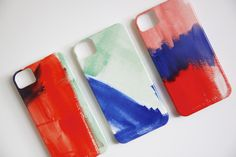 Watercolor iPhone 5 or 4 Case - Choose your color.