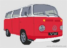 Volkswagen Camper Van Bay Window Cross Stitch Kit