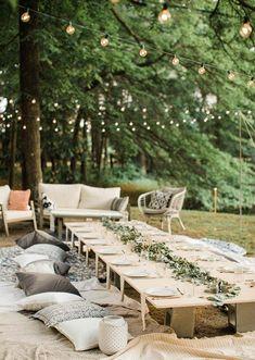 36 Ideas For Backyard Wedding Ceremony Couple Wedding Set Up, Home Wedding, Plan Your Wedding, Wedding Table, Diy Wedding, Wedding Planning, Dream Wedding, Wedding Backyard, Wedding Advice