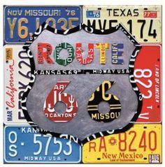 Tablouri semn metalic Route 66