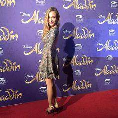 Model Alena Gerber bei Disneys #Aladdin #AladdinHamburg Premiere