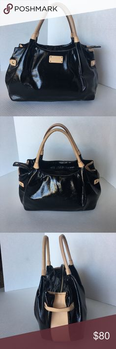 "KATE SPADE ♠️ CRINKLE PATENT LEATHER SATCHEL Gently used with very little signs of using. Almost none. Dimensions 10""H.  14""L   5,5""D.  8""Strap drop. kate spade Bags Satchels"