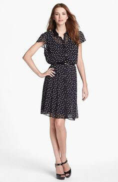 Donna Ricco Dot Print Shirtdress available at #Nordstrom