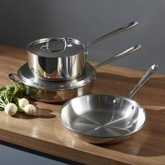 All-Clad ® Stainless 5-Piece Starter Cookware Set - Crate and Barrel
