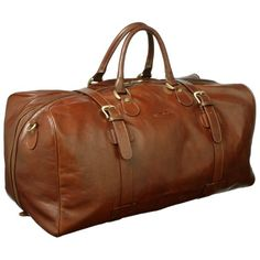 Luxury Tan Leather Holdall for Men (FleroEL): Amazon.co.uk: Shoes & Accessories