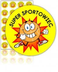"""Naklejki """"SUPER SPORTOWIEC"""" (40mm, 24 szt.)"""
