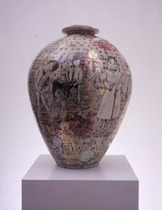Grayson Perry 'Golden Ghosts' 2000    I really wanted to pin 'The Modern Condition', 2009 but I can't find a picture of it!