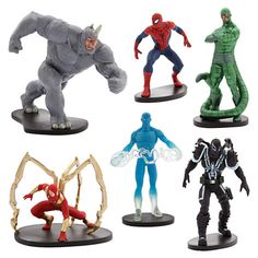 """The Disney Store """"The Ultimate Spider-Man"""" figures set"""