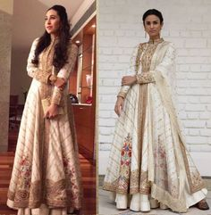 Spotted: Karisma Kapoor in an ivory resham work kalidar jacket by Rimple and Harpreet Narula. Shop the designers at the store. Call 732 549 2555 for more details. African Print Fashion, Asian Fashion, French Fashion, Rimple And Harpreet Narula, Western Dresses, Indian Wear, New York Fashion, Traditional Outfits, Evening Dresses