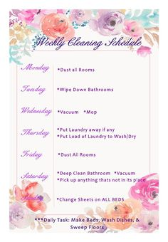 Cleaning Tips! #weeklycleaning #cleaninglist