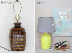 How To: Make an Old Thrift Store Lamp Look New Again. I see cool old lamps all the time, think I'll definitely try this!