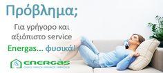 Το service παίζει τον πιο σημαντικό ρόλο στην καλή λειτουργία του λέβητα και της εγκατάστασης του φυσικού αερίου.  Έτσι εξοικονομείτε χρήματα και αποφεύγετε μελλοντικά, πολύ μεγαλύτερες βλάβες!!! www.energasgroup.com Θεσσαλονίκη - Περαία με ένα τηλεφώνημα στο 801 11 12321