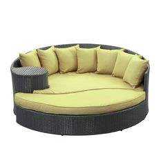 Amazon.com : LexMod Taiji Outdoor Wicker Patio Daybed with Ottoman in Espresso with Mocha Cushions : Patio Lounge Chairs : Patio, Lawn & Garden