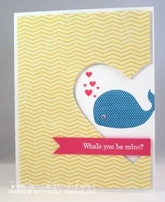I like the idea of using a heart punch on the side of the card