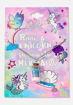 Unicorns & Mermaids Potion Pendant Necklace | Justice