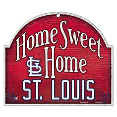 St. Louis Cardinals Home Sweet Home Wood Sign - MLB.com Shop