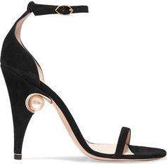 Nicholas Kirkwood  Penelope embellished suede sandals