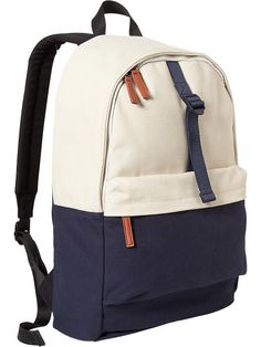 Men's Color-Block Canvas Backpacks Product Image