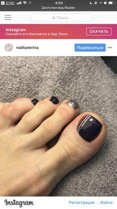 Super Ideas For Natural Pedicure Color Toe Art Designs Black Toe Nails, Navy Nails, Cute Toe Nails, Cute Pink Nails, Pretty Nails, Pedicure Colors, Pedicure Designs, Pedicure Nail Art, Toe Nail Designs