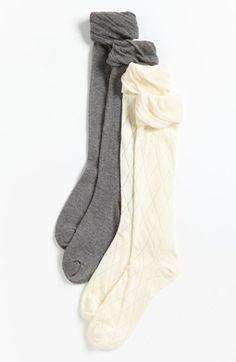 8b1625369 Nordstrom Knee High Socks (2-Pack) (Toddler Girls