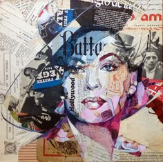 Awesome collage artist, Carme Magem , uses recycled materials, newspaper and oil paint to create captivating pieces! Collages, Collage Artists, Magazine Collage, Magazine Art, Surrealist Collage, Collage Portrait, Paper Collage Art, Newspaper Art, Art Anime