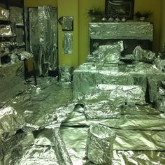Senior prank #1: This was my principles office. Love that this is on Pintrest