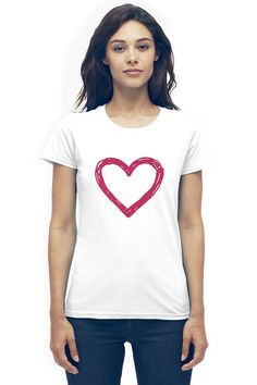 Heart - White  USD 24.99  Coolmix is proud to be apart of the chorus for change. We agree to donate 5% of our total sales to charities around the world in an effort to help support like minded organizations that are working hard to improve life for everyone. Be you. Be Coolmix! Fun Valentines Day Ideas, Valentine Day Gifts, Cool Shirts, Product Description, Stargazer, V Neck, T Shirts For Women, Working Hard, Cool Stuff