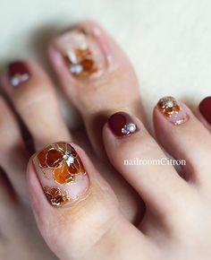 Feet Nail Design, Toe Nail Designs, Lace Nails, Flower Nails, Cute Acrylic Nails, Toe Nail Art, Diy Nails, Manicure, Feet Nails