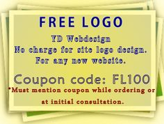 Free logo with a new website. Great prices for the year!