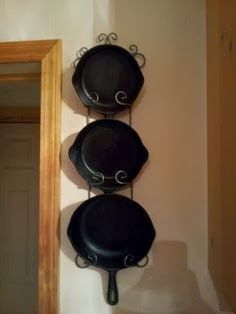 Some people use their cast iron cookware on a near daily basis. They are just tools to cook with. But, with cast iron, there is so much to k. Cast Iron Pot, Cast Iron Skillet, Cast Iron Cooking, It Cast, Skillet Cooking, Iron Storage, Kitchen Redo, Kitchen Ideas, Warm Kitchen