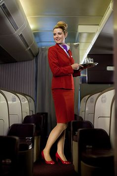Our cabin crew always look chic and polished.