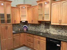 maple kitchen cabinet  backsplash tile patterns | maple honey spice product description ruthfield arch honey maple ...