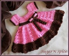 "Crochet Supernova: Sugar N Spice Dress ~FREE PATTERN~ THANK YOU FOR THIS PATTERN! [ ""Crochet Baby Clothes For Beginners 2016 Easy Cute crochet baby dress pattern free crochet patterns baby Crochet dress"", ""Sugar and Spice Baby Girl Crochet Dress Free Pattern - New Craft Works"", ""Ravelry: Sugar N Spice Dress pattern by This Housewife Life"", ""Very unusual dress of bright yarn. Complete and detailed instructions to crochet this beautiful dress"" ] #<br/> # #Crochet #Baby #Dress #Pattern,<..."