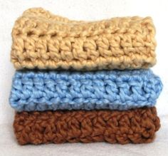 Hand Crocheted Organic Cotton Wash Cloths by HandmadeByAnnabelle, $14.00