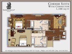 Floor Plan Corner Suite with Conne