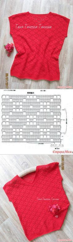 "Crochet top pattern ""Círculos Errados"" - Tricô - Mães do Campo"
