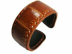 "Classic Women's & Men's Brown Genuine Leather Handmade Cuff Bracelet, 7.5"" Length (LBCT13001) WINGAMES-SHOP. $17.99 Jewelry Bracelets, Brown, Classic, Shop, Leather, Handmade, Hand Made, Craft, Classical Music"