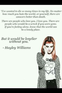 these words she said helped me out a lot in such a confusing twisted world. i love her so much