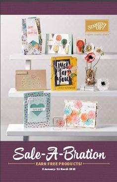 Pick a free item from the Sale-A-Bration catalogue for every $90 spent in my online store (excluding postage) http://www3.stampinup.com/ECWeb/default.aspx?dbwsdemoid=4011749.  Contact me to find out how you can save $$$s.  #angelaspaperarts
