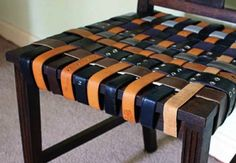 Reuse Leather Belts- Chair